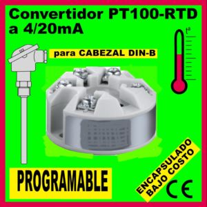 01f2- Encapsulado para Pt100-RTD PROGRAMABLE (para cabezal DIN B)