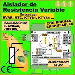 02b2- Aislador Resistencia Variable (salida 0-10V, 4-20mA)