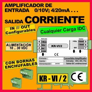 03c2- Amplificador 0-200mA (entrada 0-10V, 4-20mA)