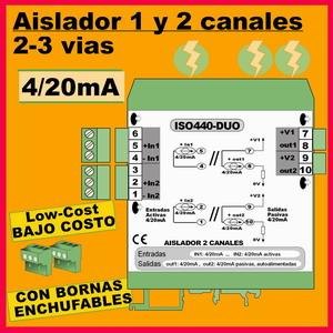 04a2- Aislador de 2 y 3 vías bajo costo (4-20mA)