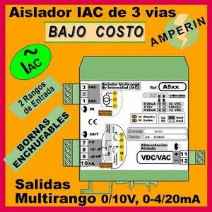05a2- Aislador Intensidad Alterna 0-1A, 0-5A de trafo toroidal (salida 0-10V, 4-20mA)