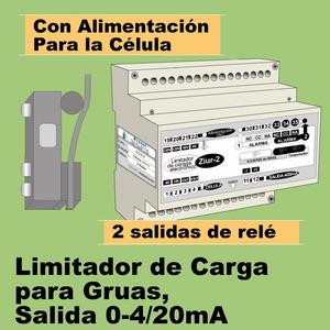 06e- Limitador de carga para gruas, 2 niveles de alarma, salida 4-20mA