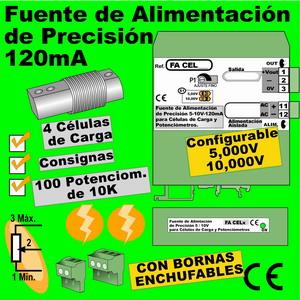 06f2- Fuente de Alimentación de precisión 5-10 VDC para 4-8 células de carga