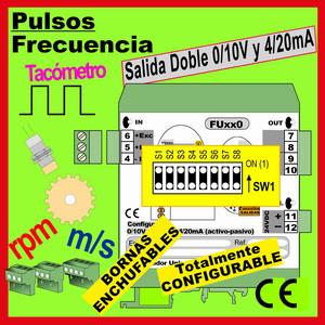 07a1- Convertidor Universal de Frecuencia, salida 0-10V, 4-20mA