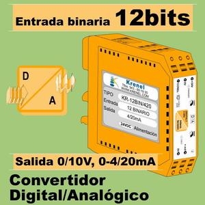 09c- Convertidor Digital 12 Binario a Analógico(0-10V, 4-20mA)