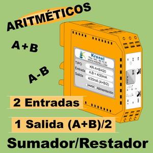 12a- Convertidor Aritmético. Sumador y Restador de señales 0-10V y 4-20mA