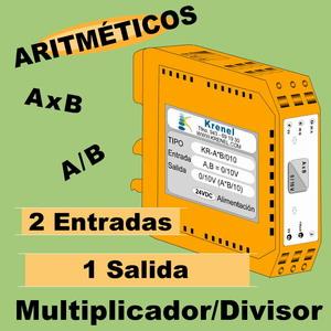 12b- Convertidor Aritmético. Multiplicador y Divisor de señales 0-10V