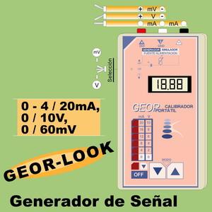 13a- GEOR-LOOK. Generador-Simulador 0-4..20mA, 0-10V, termopar 0-60mV