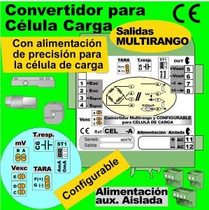 06c3- Convertidor para 1 célula de carga, salida 0-20mA, 4-20mA